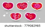 set of vector hearts  greeting... | Shutterstock .eps vector #779082985