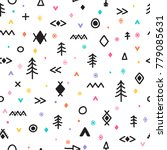 abstract tribal background.... | Shutterstock .eps vector #779085631