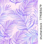 tropical pattern with exotic... | Shutterstock .eps vector #779085679