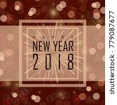 happy new year 2018   Shutterstock .eps vector #779087677