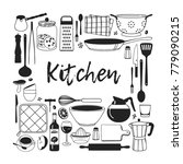hand drawn illustration cooking ... | Shutterstock .eps vector #779090215