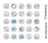 business charts and diagrams...   Shutterstock .eps vector #779090941