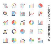 business charts and diagrams... | Shutterstock .eps vector #779090944