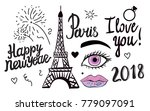 happy new year lettering.... | Shutterstock .eps vector #779097091