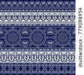 ethnic geometric ornament strip....   Shutterstock .eps vector #779098954