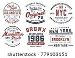 new york  los angeles ...   Shutterstock .eps vector #779103151