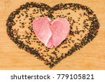 raw meat in the shape of a...   Shutterstock . vector #779105821