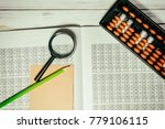 mental arithmetic background | Shutterstock . vector #779106115