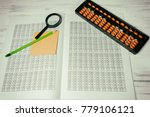 mental arithmetic background | Shutterstock . vector #779106121