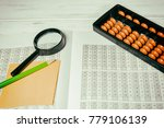 mental arithmetic background | Shutterstock . vector #779106139
