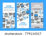 vector home appliance sale... | Shutterstock .eps vector #779114317
