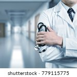 doctor with a stethoscope | Shutterstock . vector #779115775