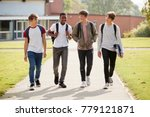 group of male teenage students... | Shutterstock . vector #779121871