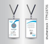 creative simple blue id card... | Shutterstock .eps vector #779123731