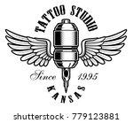 tattoo studio emblem. vintage... | Shutterstock .eps vector #779123881