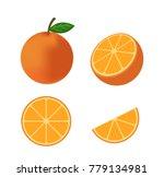 fresh orange fruit vector...   Shutterstock .eps vector #779134981