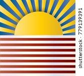 usa retro sunbeams background | Shutterstock .eps vector #779139391