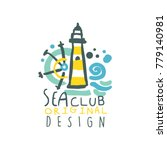 colorful yacht or sea club logo ... | Shutterstock .eps vector #779140981