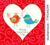 two happy cute bird in love...