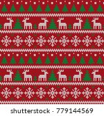 knitted christmas and new year... | Shutterstock .eps vector #779144569