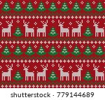 knitted christmas and new year... | Shutterstock .eps vector #779144689