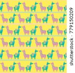 seamless pattern with cute... | Shutterstock .eps vector #779150209