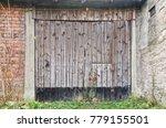 old wooden barn door | Shutterstock . vector #779155501