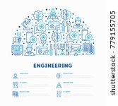 engineering concept in half... | Shutterstock .eps vector #779155705