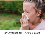 attractive woman outdoor with... | Shutterstock . vector #779161105