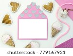 romantic letter with empty...   Shutterstock . vector #779167921