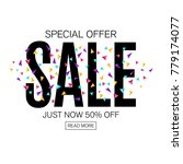 sale banner template design....   Shutterstock .eps vector #779174077