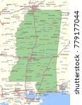 mississippi map. shows state... | Shutterstock .eps vector #779177044