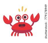 Cute Cartoon Red Crab Drawing....