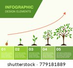 infographic growing tree  the... | Shutterstock .eps vector #779181889
