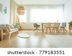 open space living room with... | Shutterstock . vector #779183551