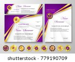 qualification certificate of... | Shutterstock .eps vector #779190709