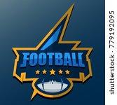 american football logo template.... | Shutterstock .eps vector #779192095
