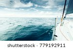Yachting On Sail Boat During...