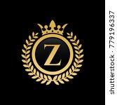letter z royal crown logo | Shutterstock .eps vector #779196337