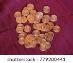 one cent dollar coins money ... | Shutterstock . vector #779200441