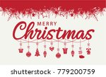 merry christmas card or... | Shutterstock .eps vector #779200759