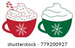 merry christmas peppermint... | Shutterstock .eps vector #779200927