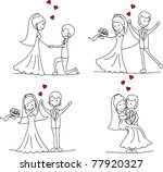 sweethearts and happy bride and ... | Shutterstock .eps vector #77920327