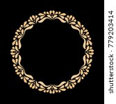 decorative black and gold...   Shutterstock .eps vector #779203414