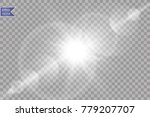 vector transparent sunlight... | Shutterstock .eps vector #779207707