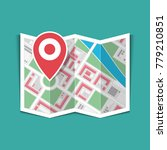 map with a pin isolated on... | Shutterstock .eps vector #779210851
