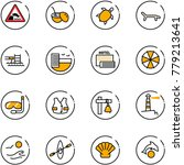 line vector icon set  ... | Shutterstock .eps vector #779213641
