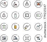 line vector icon set  ...   Shutterstock .eps vector #779215147