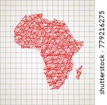 sketch african continent... | Shutterstock .eps vector #779216275