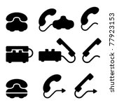 Vector Black Old Phone Symbols